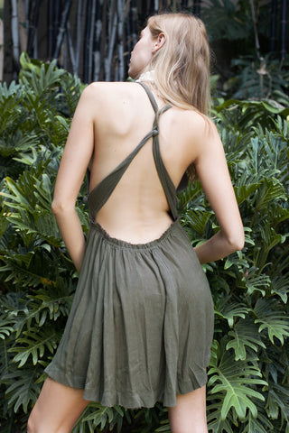 Serena Dress in Khaki
