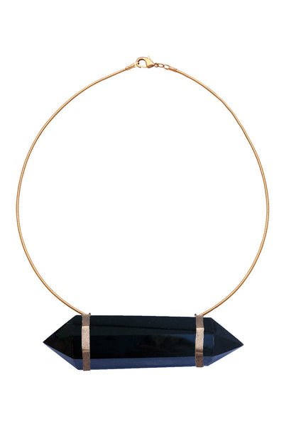 Brass Choker with Black Agate