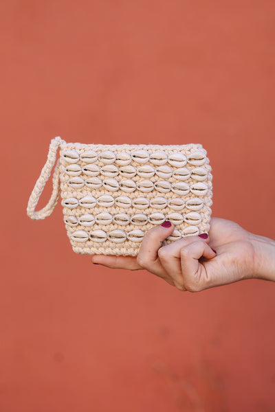 Nusa Cowrie Small Clutch