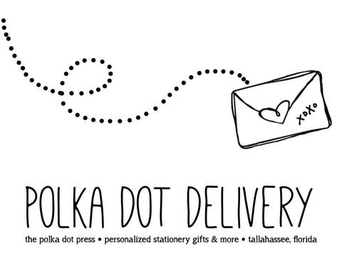 paper goodness delivered to your doorstep – The Polka Dot Press