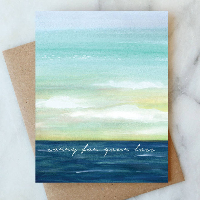 Greeting Card, Ocean Sorry for your Loss