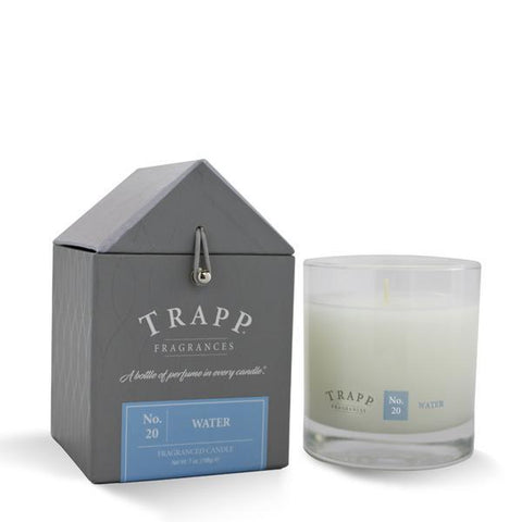Trapp Candle, Large Poured Water