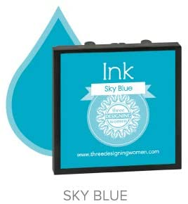 Ink Pad Refill, Sky Blue