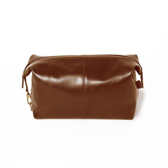 Journeyman Dopp Kit, Brown Leather