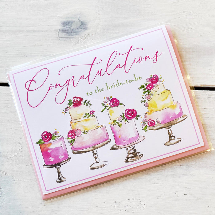 Greeting Card, Congratulations to the Bride to Be