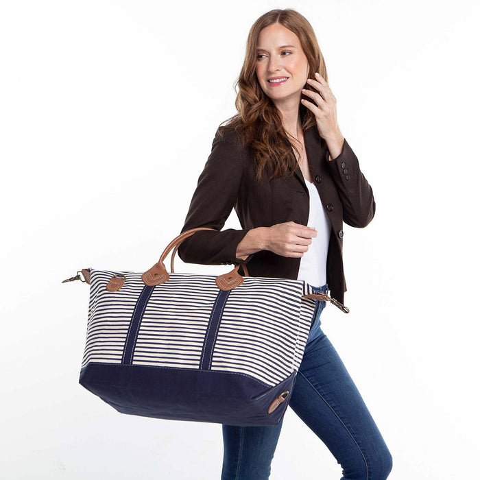 Weekender, Navy Stripes