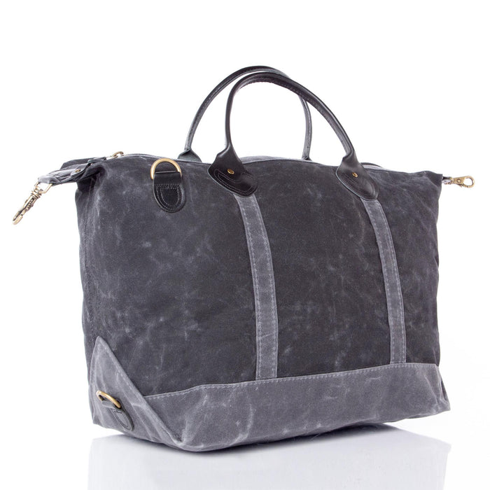 Waxed Canvas Weekender, Black
