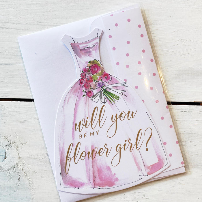Greeting Card, Will You Be My Flower Girl?