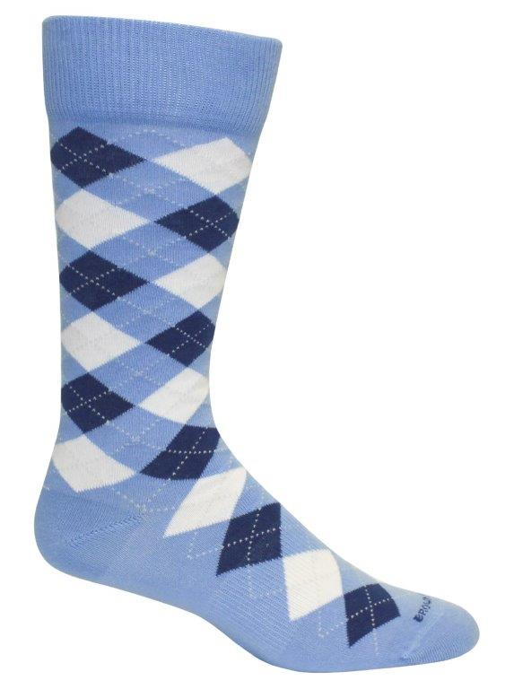Blue & Royal Argyle Mens Socks