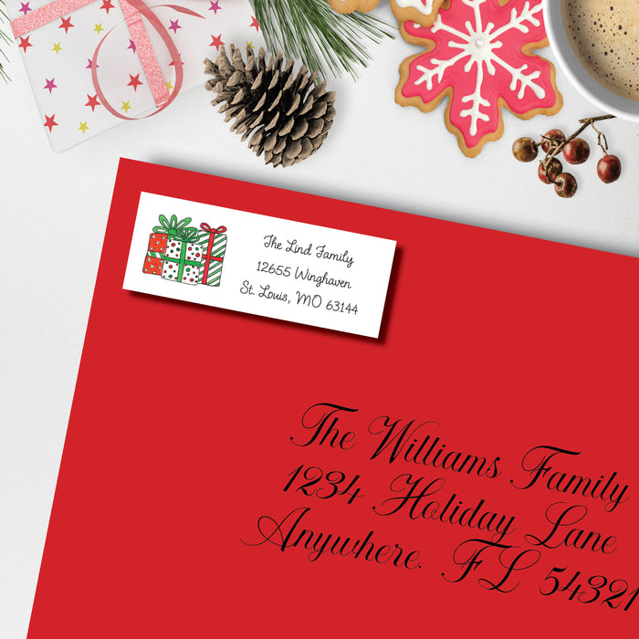 Christmas Return Address Label, All I Want For Christmas