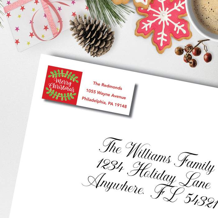 Christmas Return Address Label, Christmas Wishes