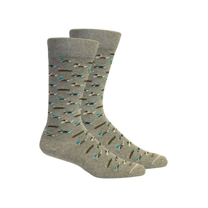 Currituck Light Gray Mens Socks