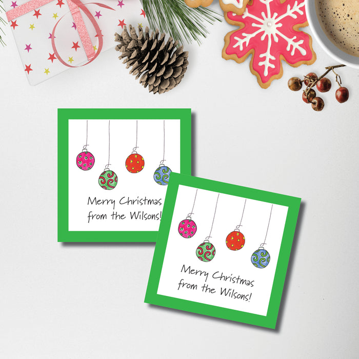 Christmas Gift Sticker, Deck the Halls