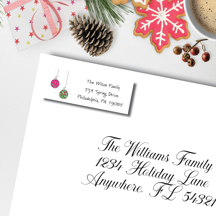 Christmas Return Address Label, Deck the Halls
