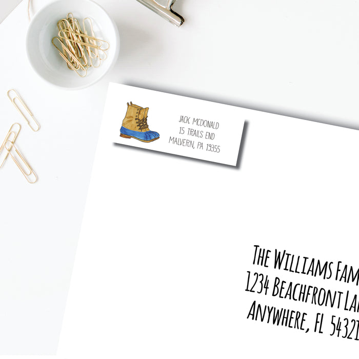 Return Address Label, Duck Boots