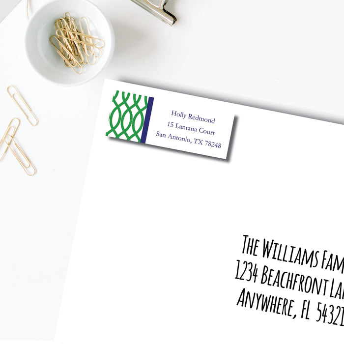 Return Address Label, Garden Gate Green