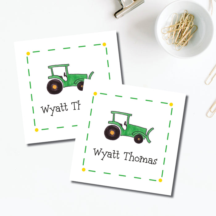 Enclosure Card, Green Tractor