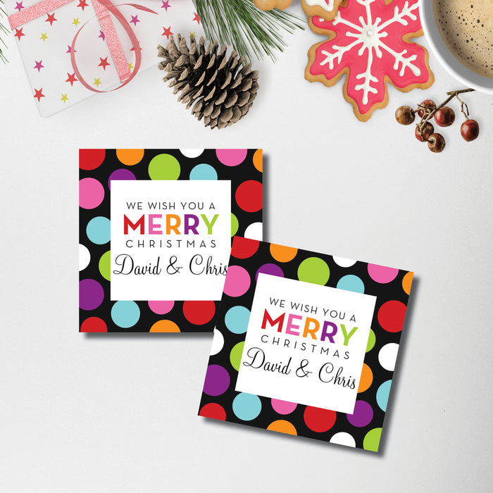 Christmas Enclosure Card/Gift Tag, Holiday Cheer