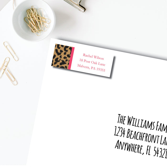 Return Address Label, Leopard