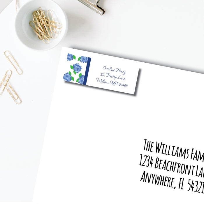 Return Address Label, Nantucket Blue