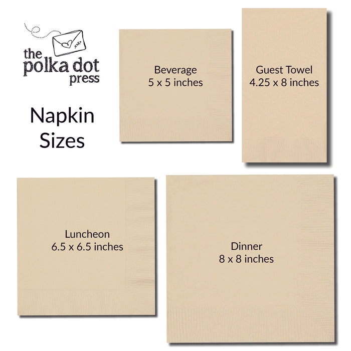 Personalized Napkins, Custom Logo