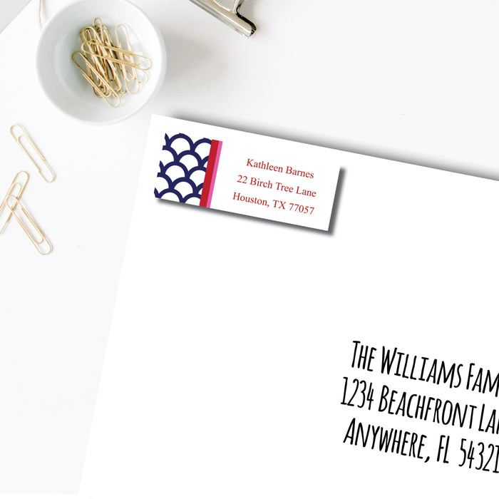 Return Address Label, Navy Shells