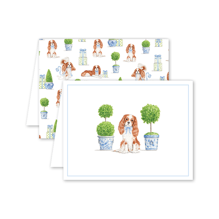 Greeting Card, Topiary and Toile