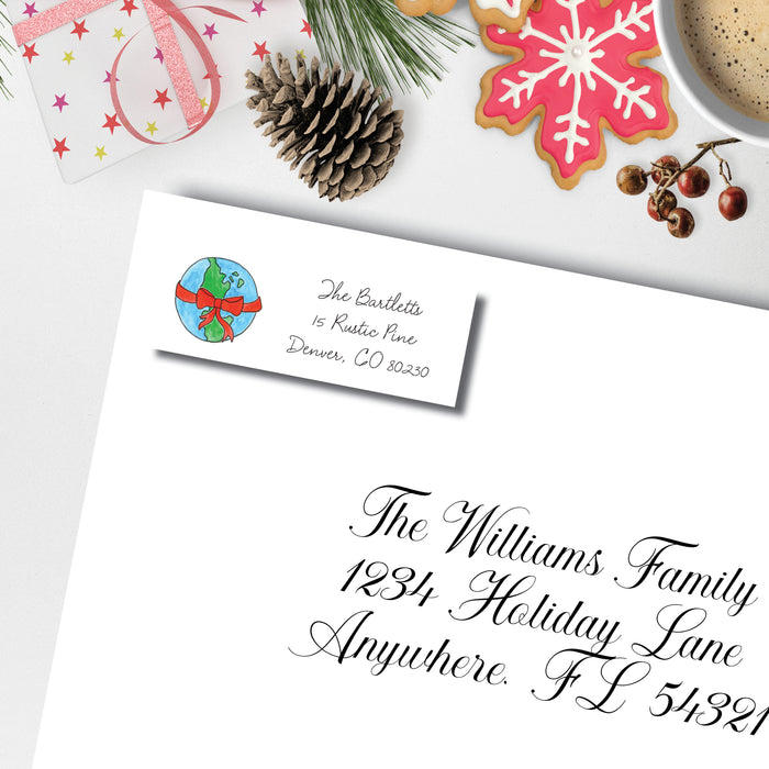 Christmas Return Address Label, Peace on Earth