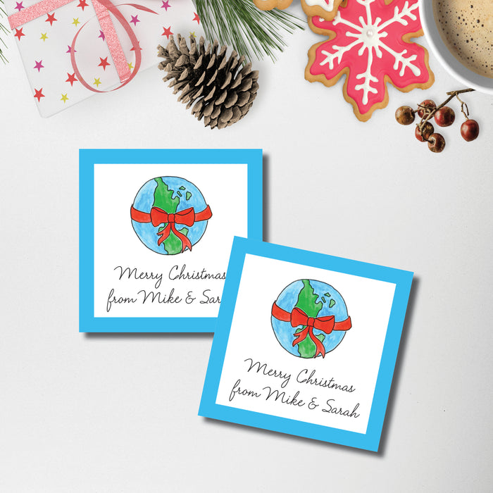 Christmas Gift Sticker, Peace on Earth