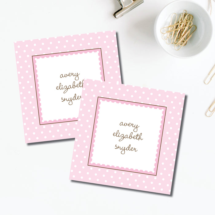 Enclosure Card, Ruffle Dots Pink