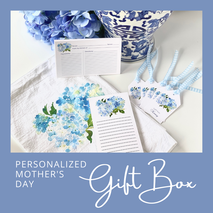 Mother's Day Personalized Blue Hydrangea Gift Box