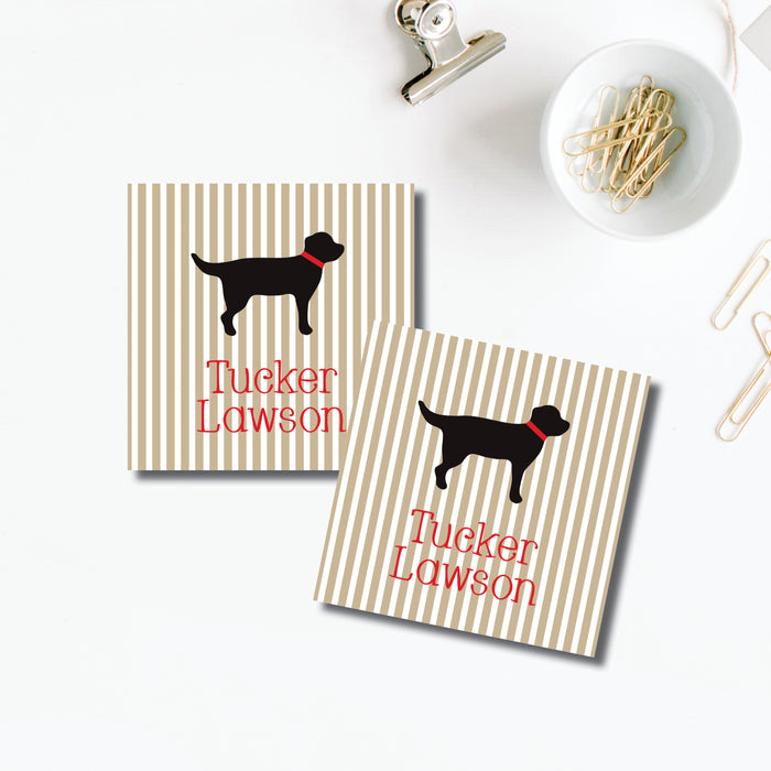 Gift Sticker, Tucker Dog