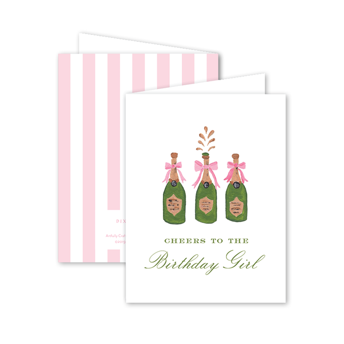 Greeting Card, Champagne Birthday
