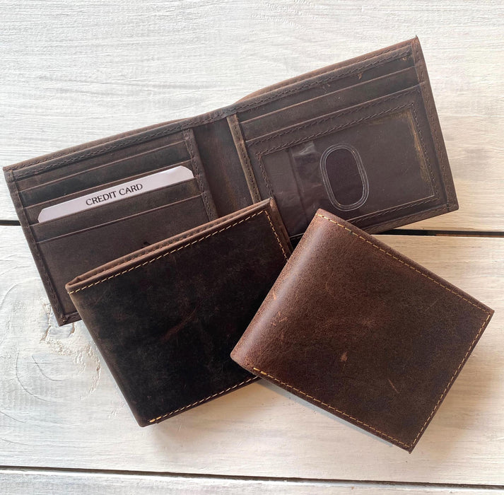 Leather Billfold, Distressed Leather