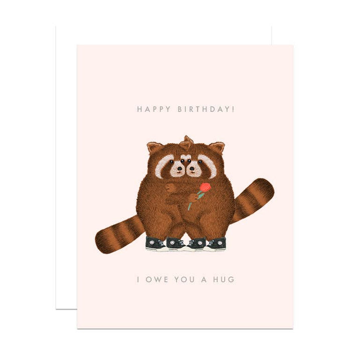 Greeting Card, I Owe You a Hug