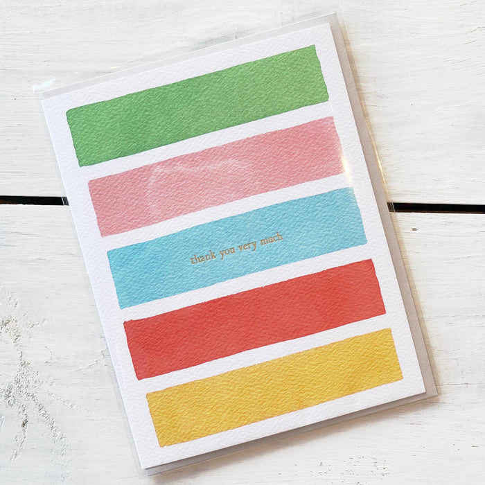 Greeting Card, Thank You Very Much Bright Stripes