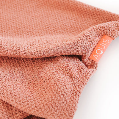 AQUIS CopperSure Rapid Dry Hair Wrap fabric close up