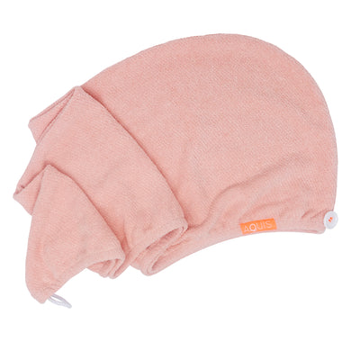 Rapid Dry Lisse Hair Turban in Peach | AQUIS