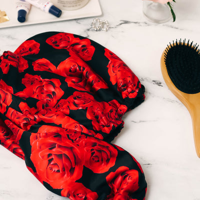 Roses Rapid Dry Double Layer Hair Turban (4535509155912)