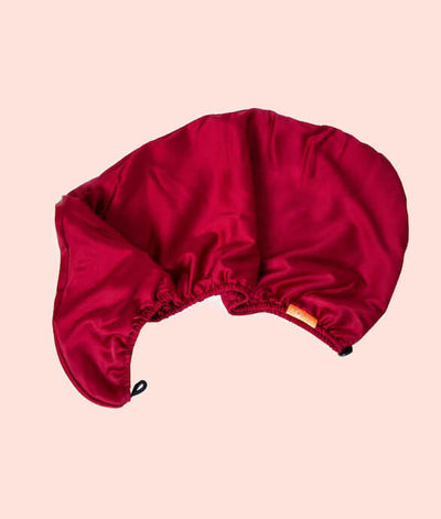 Ruby Red Rapid Dry Double Layer Hair Turban