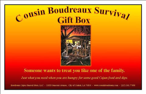 Cousin Boudreaux 6 - pack Survival Gift Box