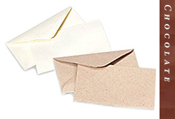 Glitter Burst Envelopes - Greeting Cards & Invitations Size - Chocolate