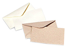 Glitter Burst Envelopes - Greeting Cards & Invitations Size - White