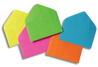 Glitter Burst Envelopes - Gift Card Size - Lime Green