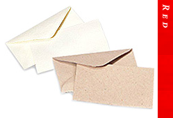 Glitter Burst Envelopes - Greeting Cards & Invitations Size - Red