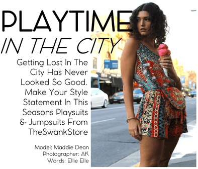 PLAYTIME IN THE CITY. This Seasons Hottest Jumpsuits & Playsuits