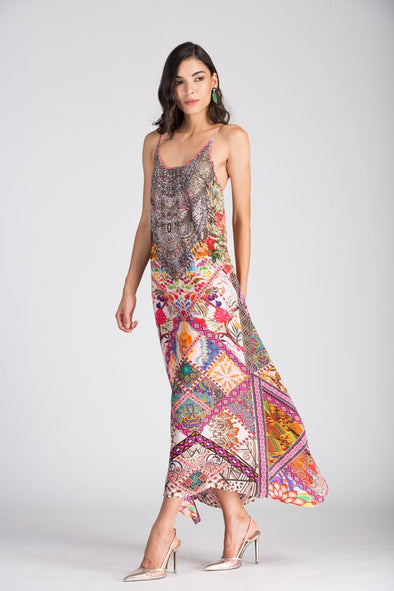 TUNISA - MAXI DRESS WITH ADJUSTABLE STRAPS