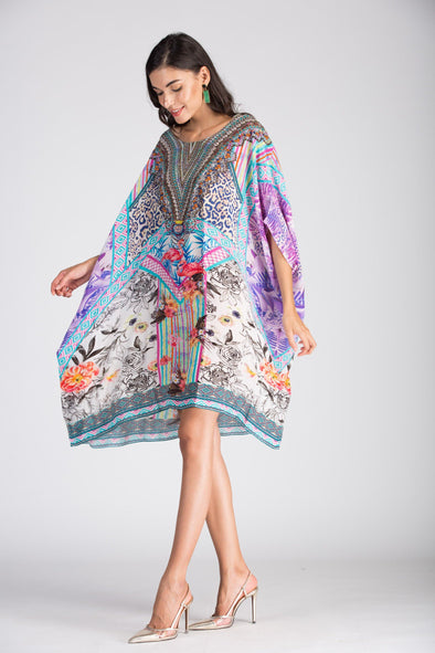 St.LUCIA - SHORT BOX KAFTAN