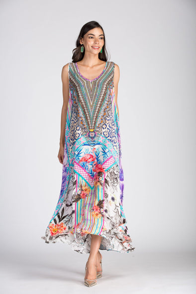 St.LUCIA - SLEEVELESS MAXI DRESS