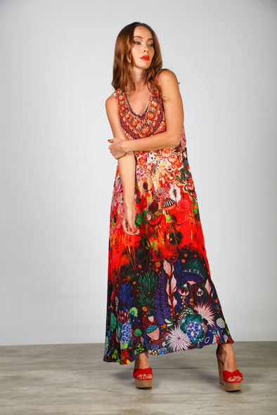 CORRALLE - SLEEVELESS MAXI DRESS